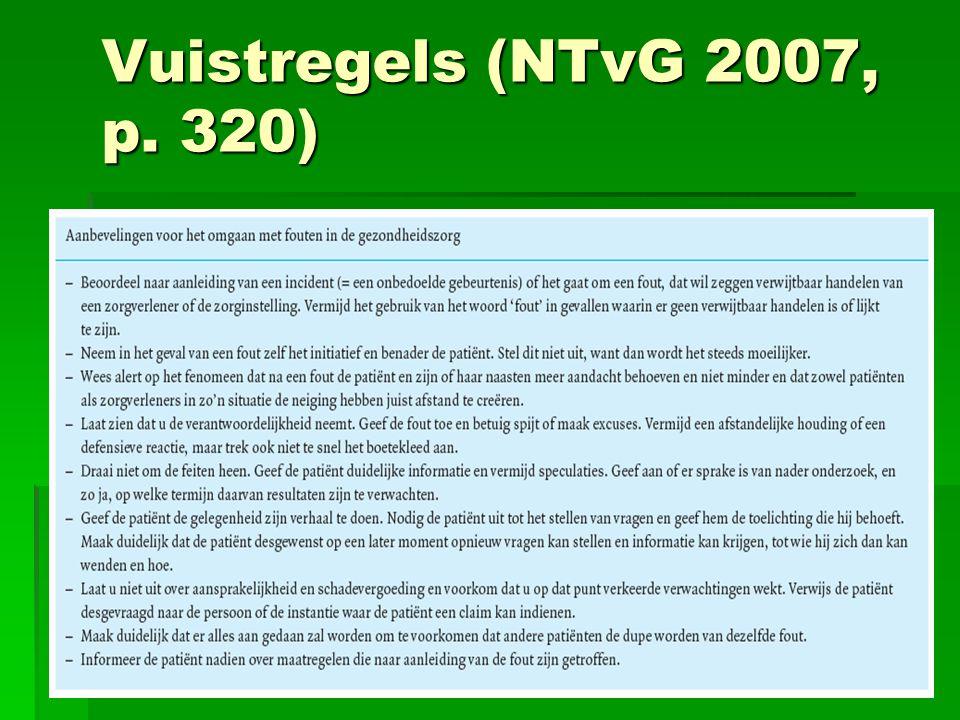 Vuistregels (NTvG 2007, p. 320) 8