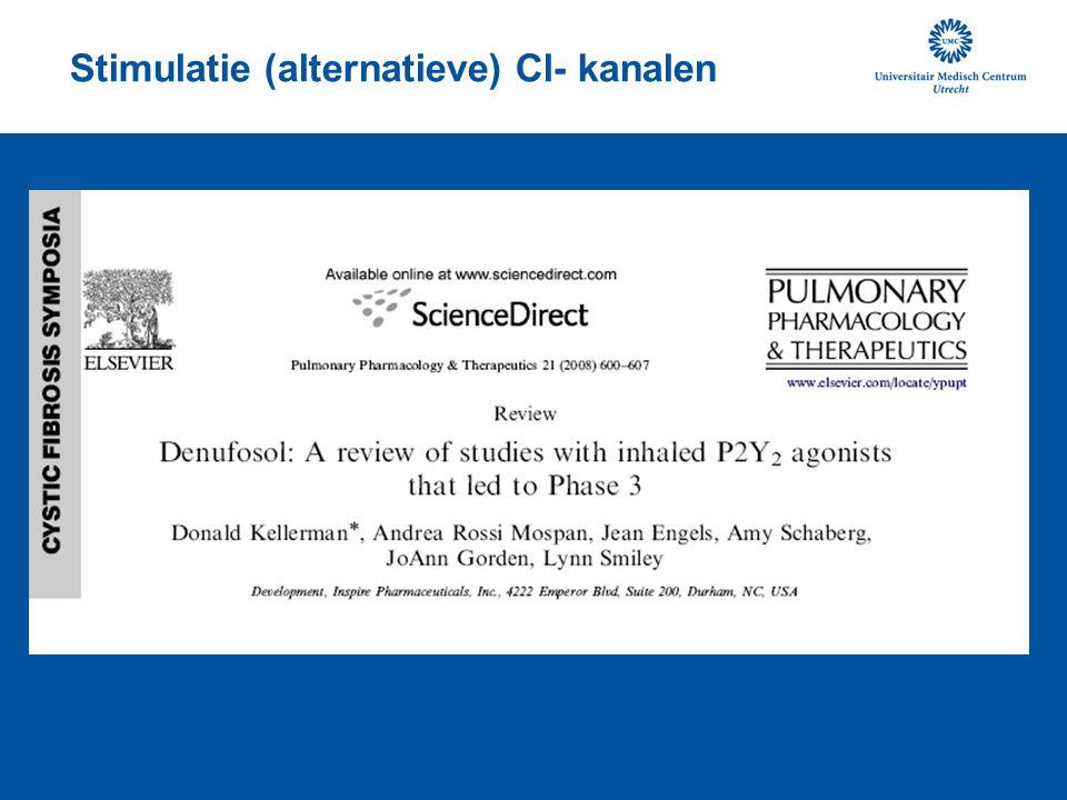 Stimulatie (alternatieve) Cl- kanalen