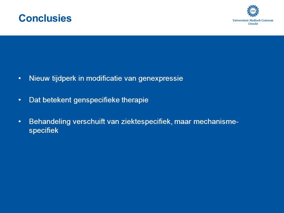 Conclusies Nieuw tijdperk in modificatie van genexpressie