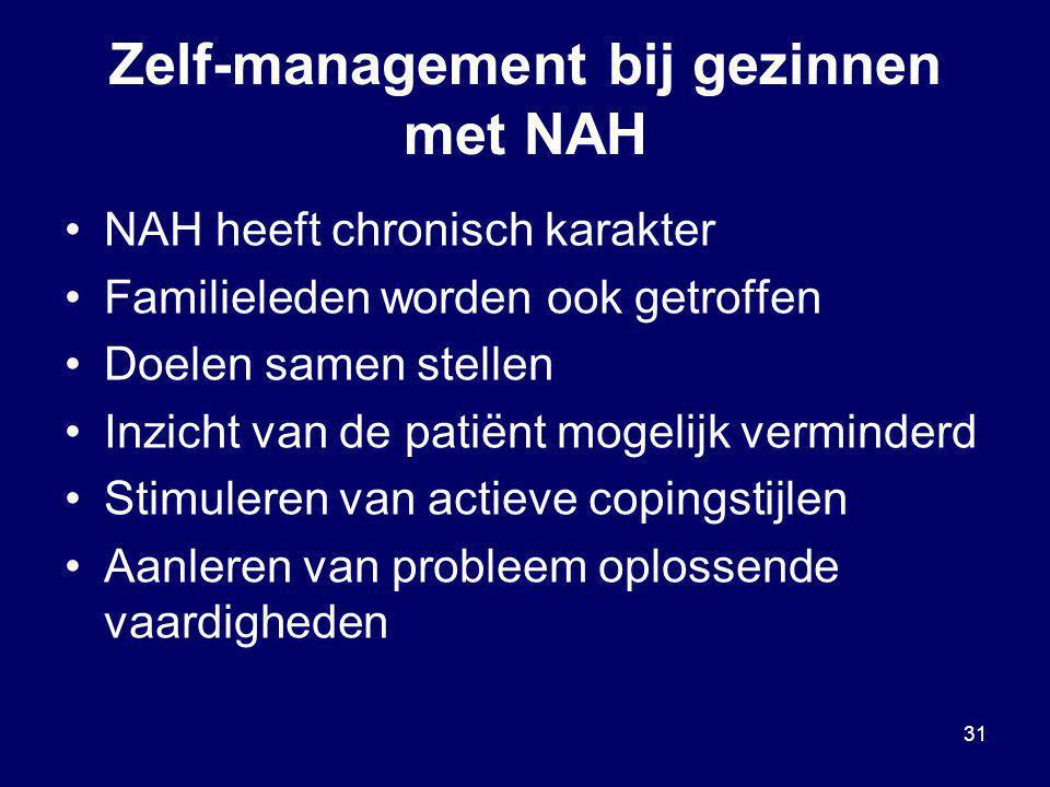 Zelf-management bij gezinnen met NAH
