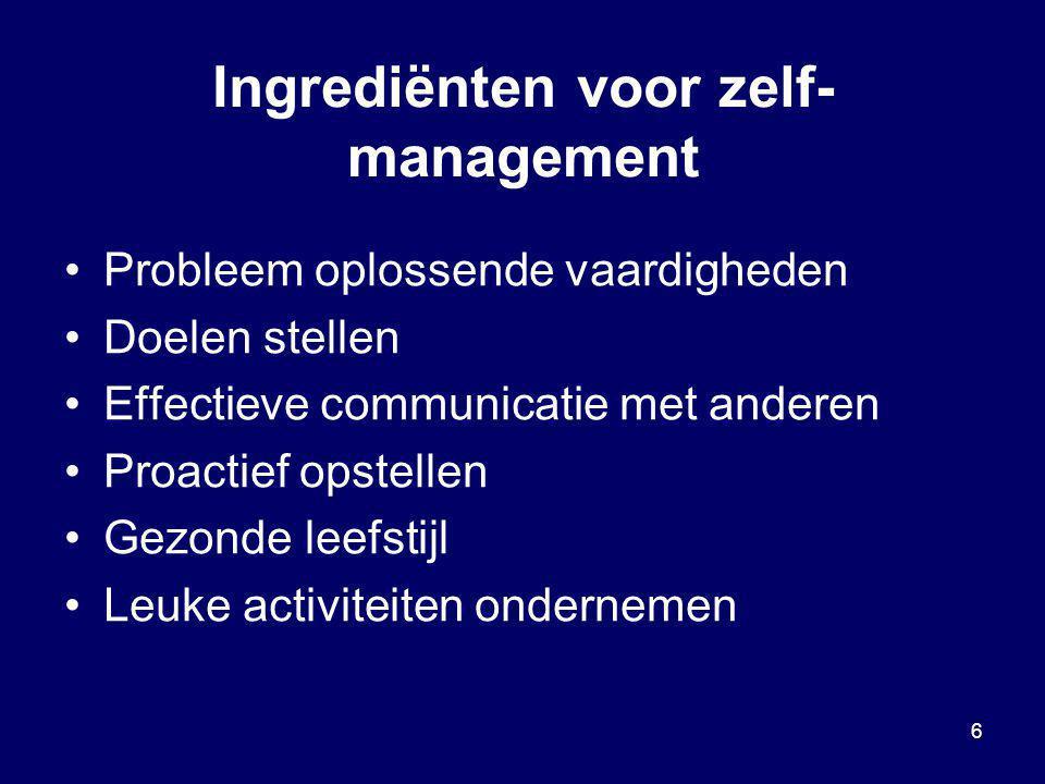 Ingrediënten voor zelf-management