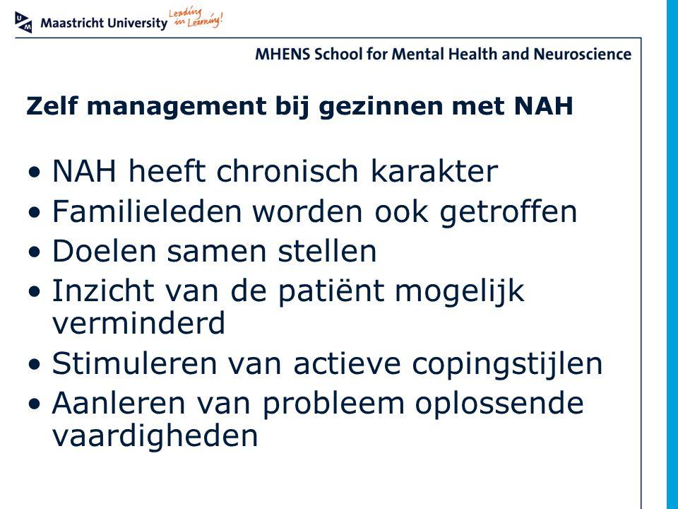 Zelf management bij gezinnen met NAH