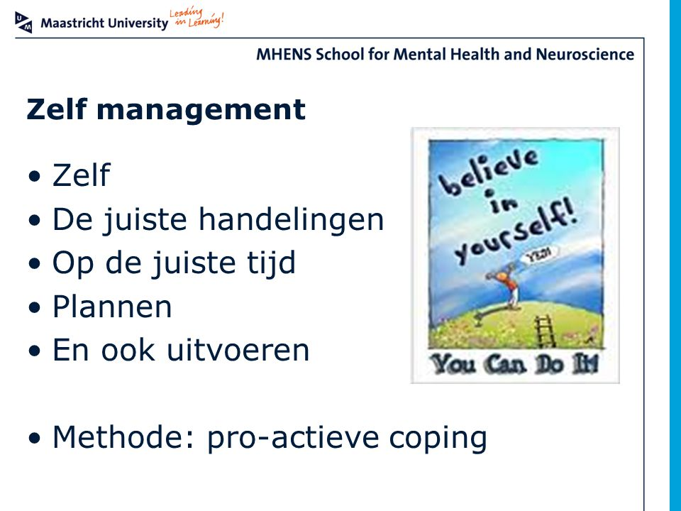 Methode: pro-actieve coping