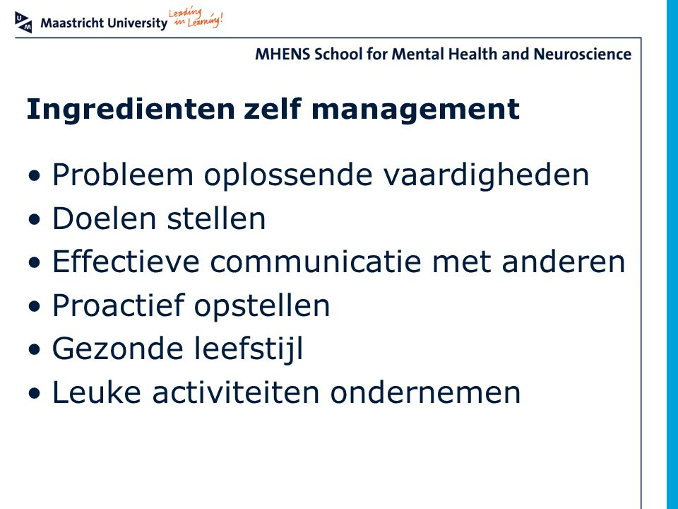 Ingredienten zelf management