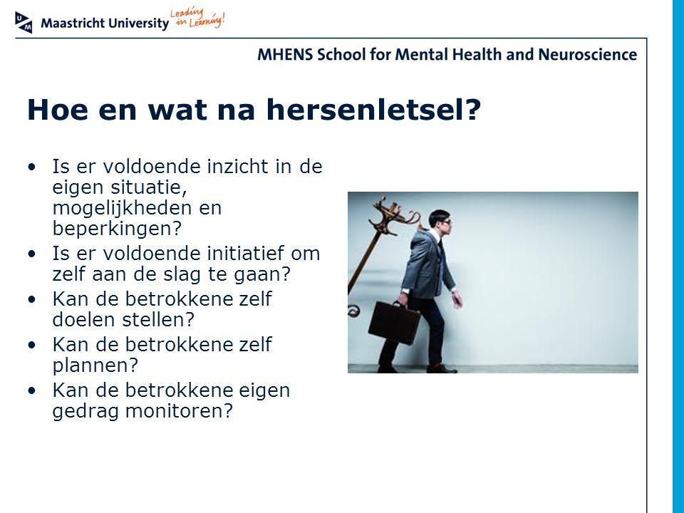 Hoe en wat na hersenletsel
