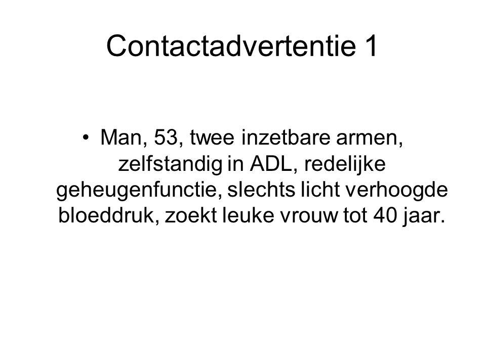 Contactadvertentie 1