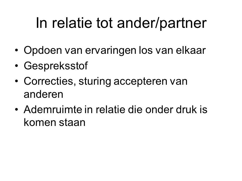 In relatie tot ander/partner
