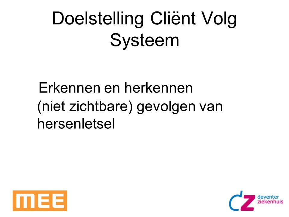 Doelstelling Cliënt Volg Systeem