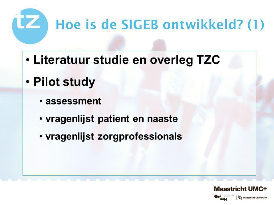 Hoe is de SIGEB ontwikkeld (1)