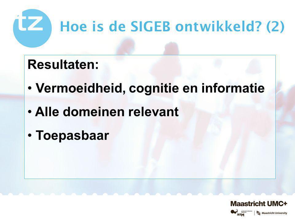 Hoe is de SIGEB ontwikkeld (2)