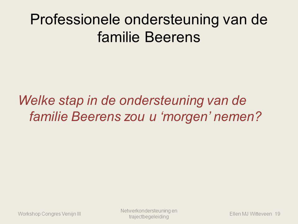 Professionele ondersteuning van de familie Beerens