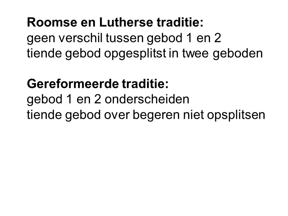 Roomse en Lutherse traditie: