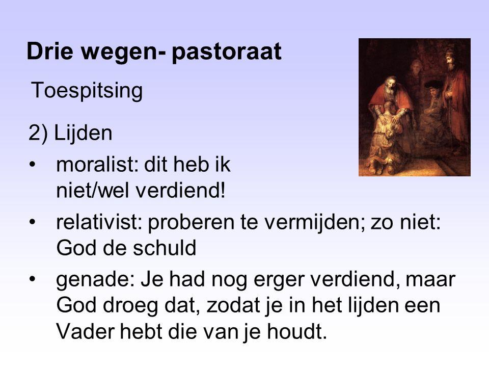 Drie wegen- pastoraat Toespitsing 2) Lijden