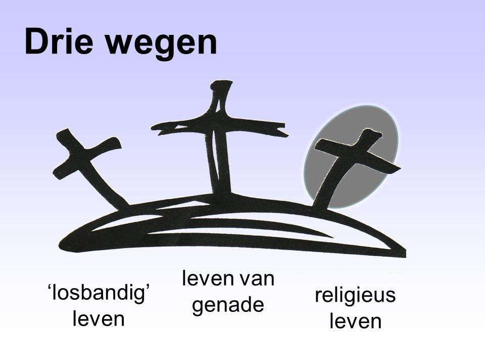 Drie wegen leven van genade 'losbandig' leven religieus leven