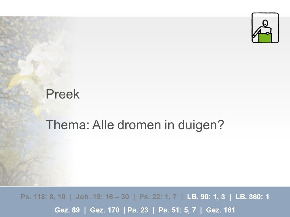 Thema: Alle dromen in duigen
