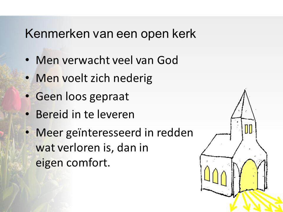 Kenmerken van een open kerk