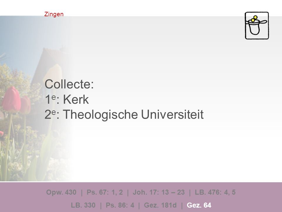 2e: Theologische Universiteit