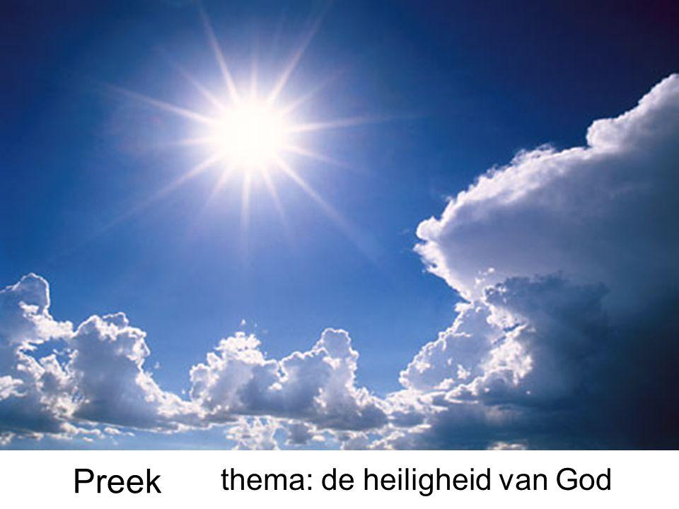 thema: de heiligheid van God