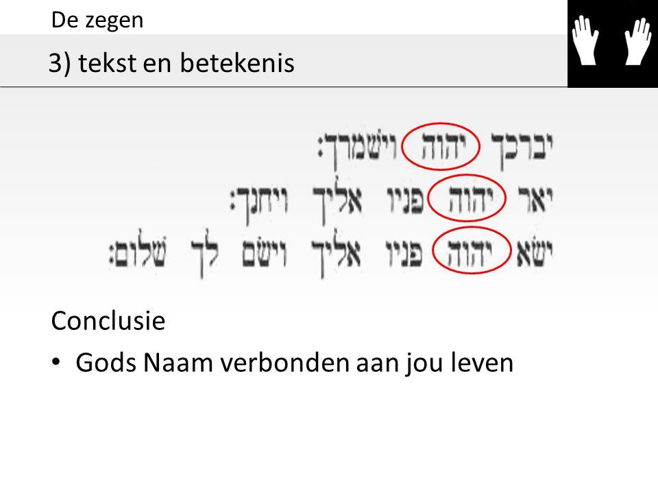 Gods Naam verbonden aan jou leven