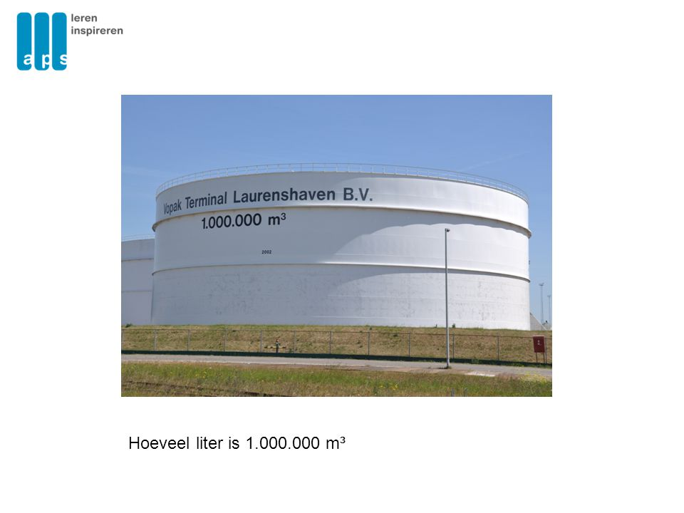 Hoeveel liter is 1.000.000 m³