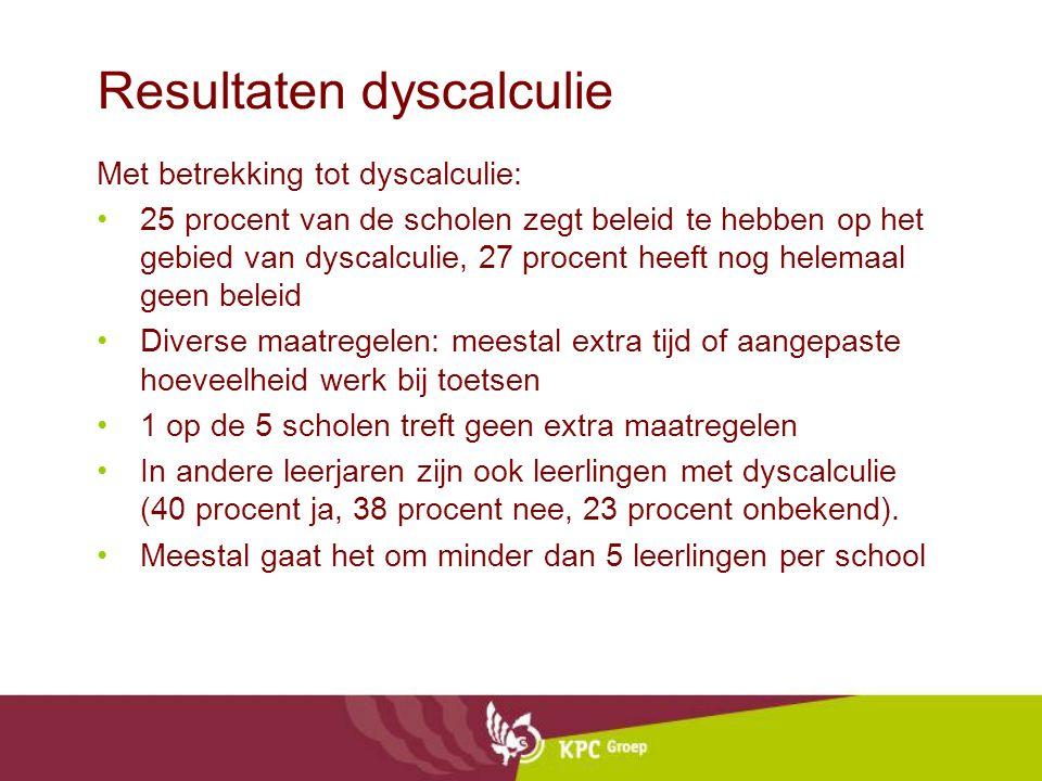 Resultaten dyscalculie
