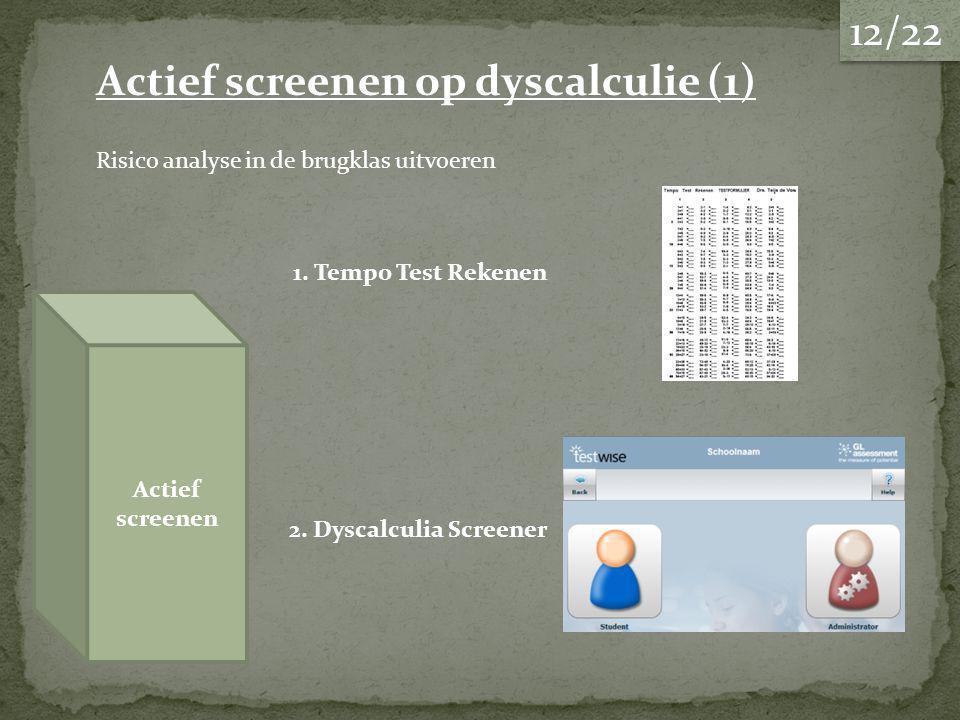 Actief screenen op dyscalculie (1)