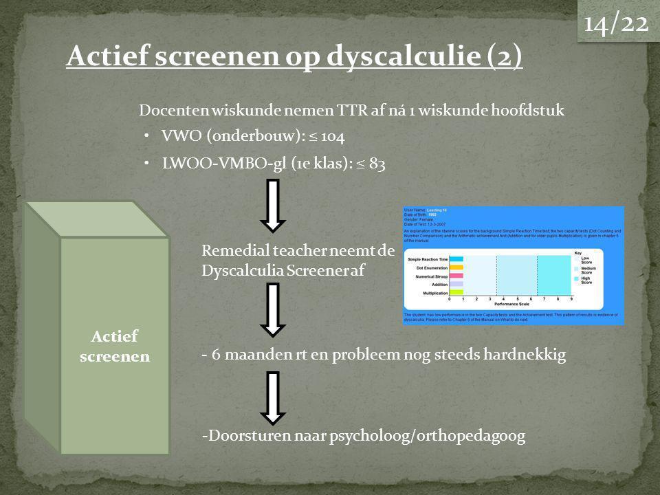 Actief screenen op dyscalculie (2)