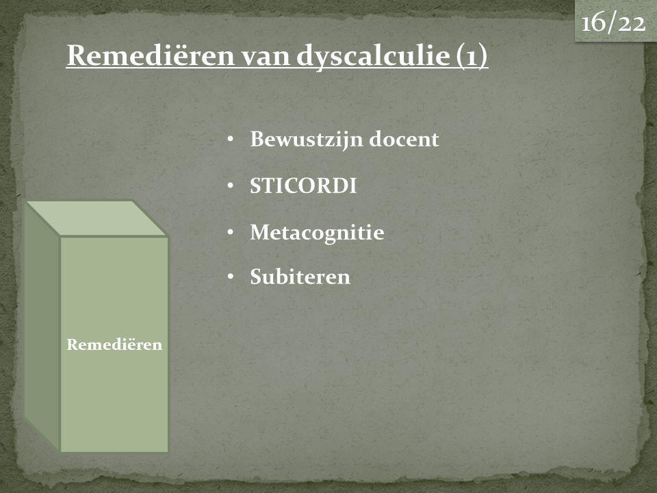 Remediëren van dyscalculie (1)