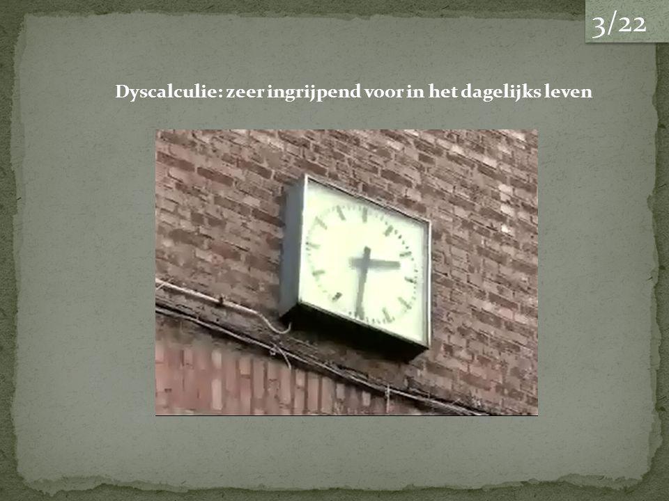 3/22 Dyscalculie: zeer ingrijpend voor in het dagelijks leven