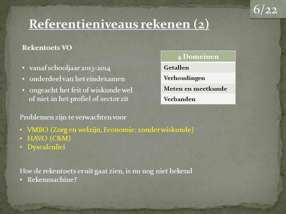 Referentieniveaus rekenen (2)