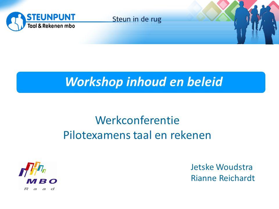 Workshop inhoud en beleid