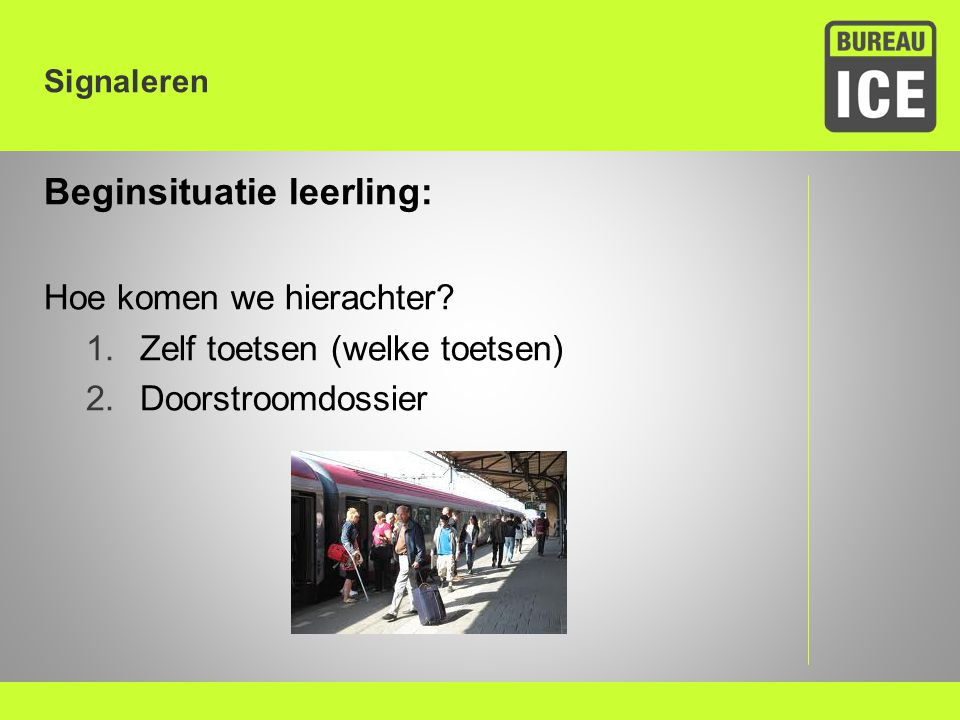 Beginsituatie leerling: