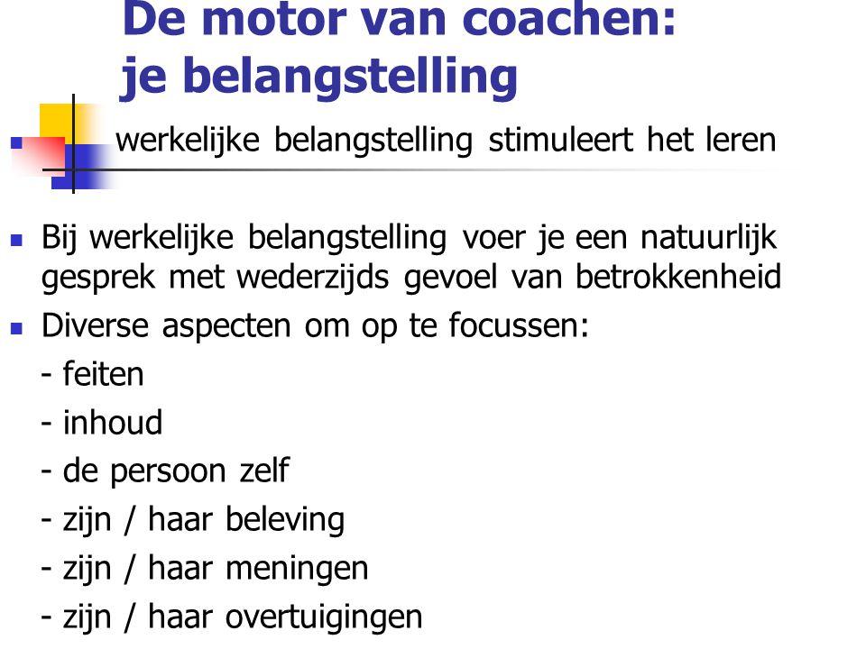 De motor van coachen: je belangstelling