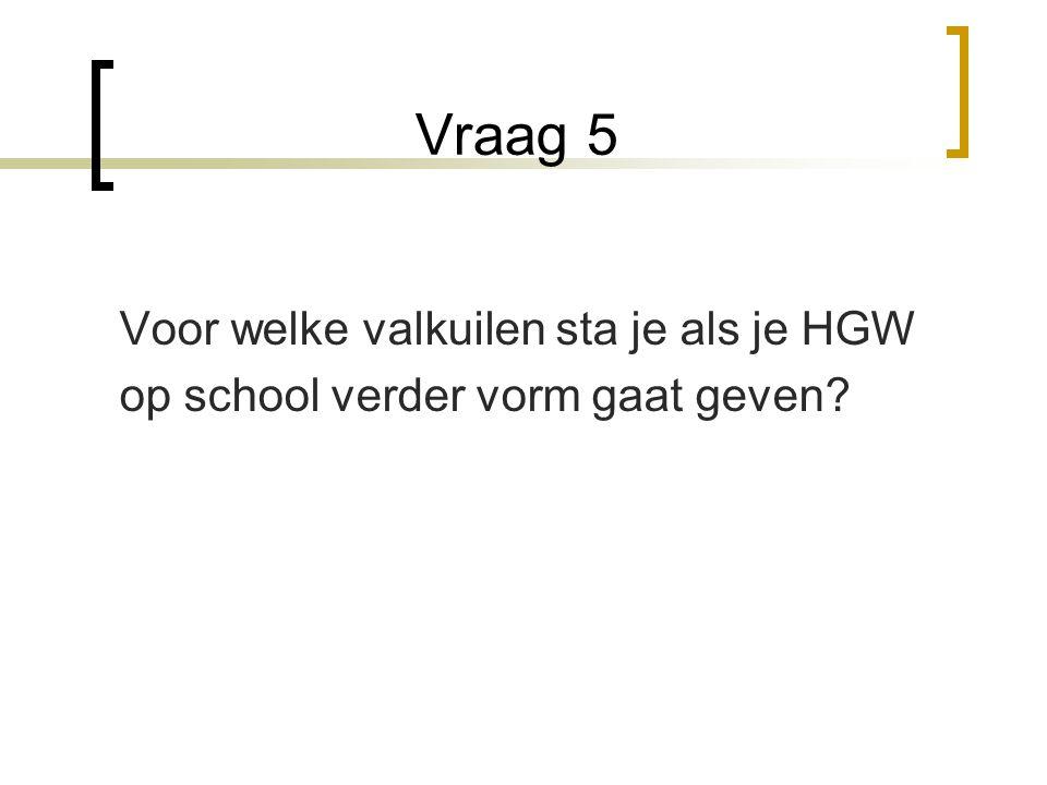 Vraag 5 Voor welke valkuilen sta je als je HGW