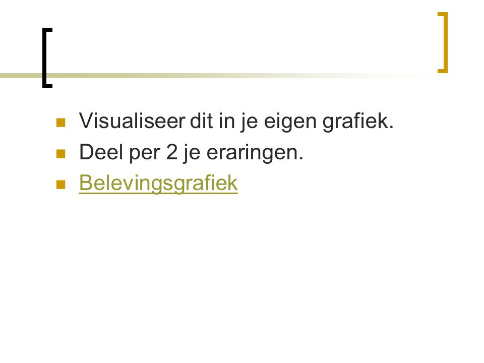 Visualiseer dit in je eigen grafiek.