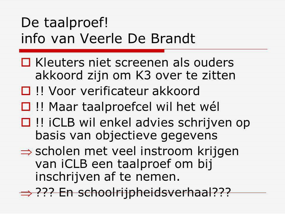 De taalproef! info van Veerle De Brandt