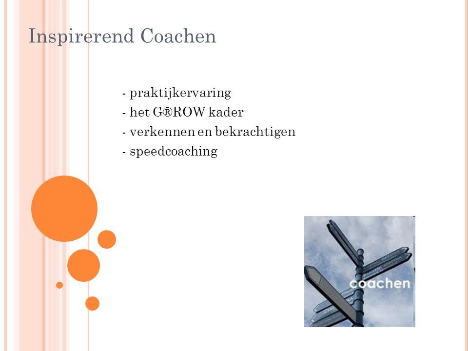 Inspirerend Coachen - praktijkervaring - het G®ROW kader