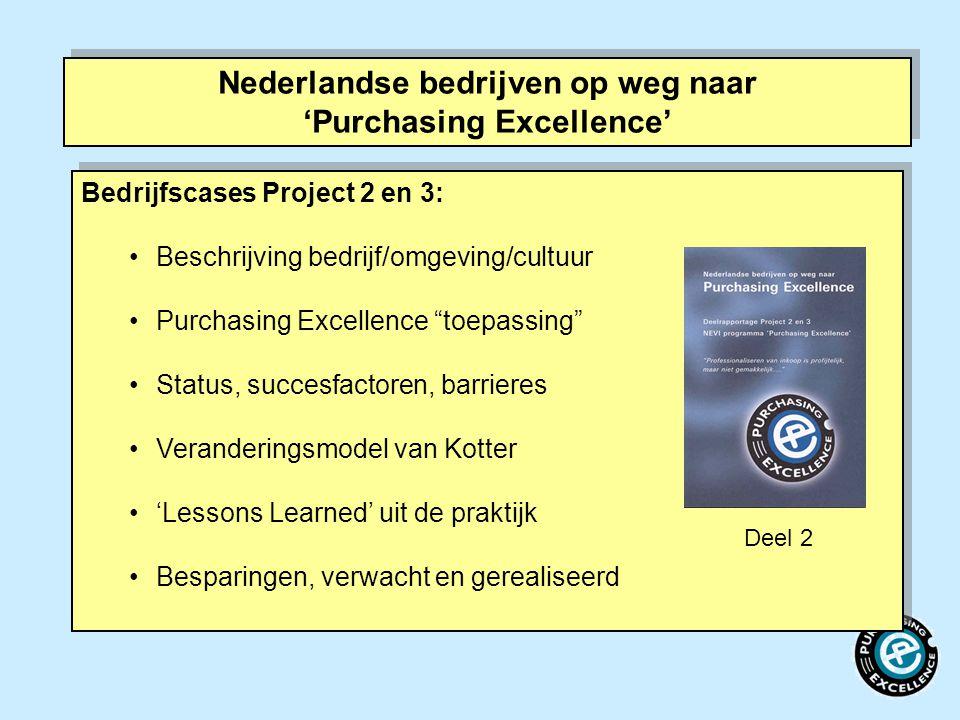 Nederlandse bedrijven op weg naar 'Purchasing Excellence'