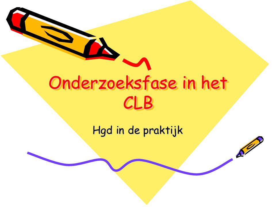 Onderzoeksfase in het CLB