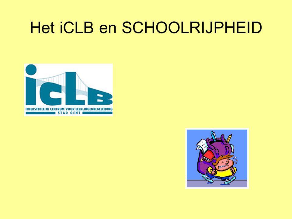 Het iCLB en SCHOOLRIJPHEID