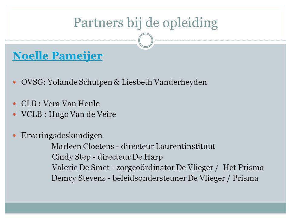 Partners bij de opleiding