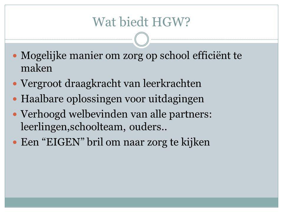 Wat biedt HGW Mogelijke manier om zorg op school efficiënt te maken