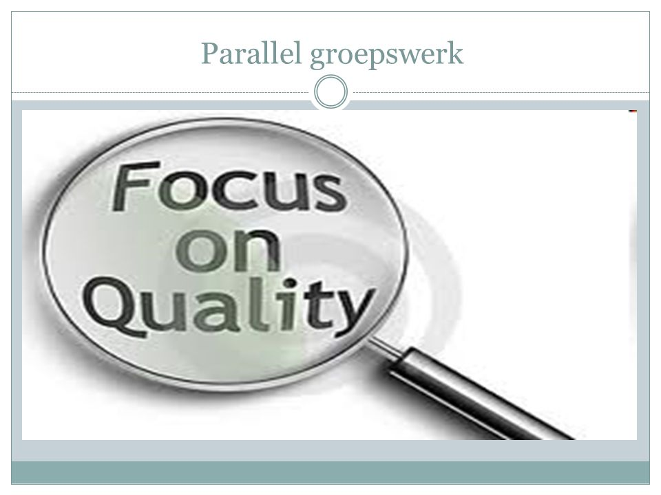 Parallel groepswerk