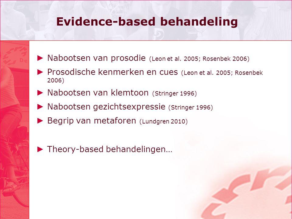 Evidence-based behandeling