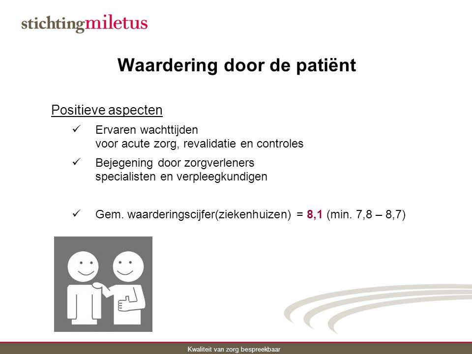 Waardering door de patiënt