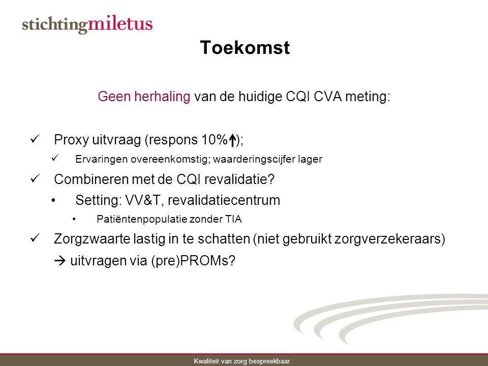 Geen herhaling van de huidige CQI CVA meting: