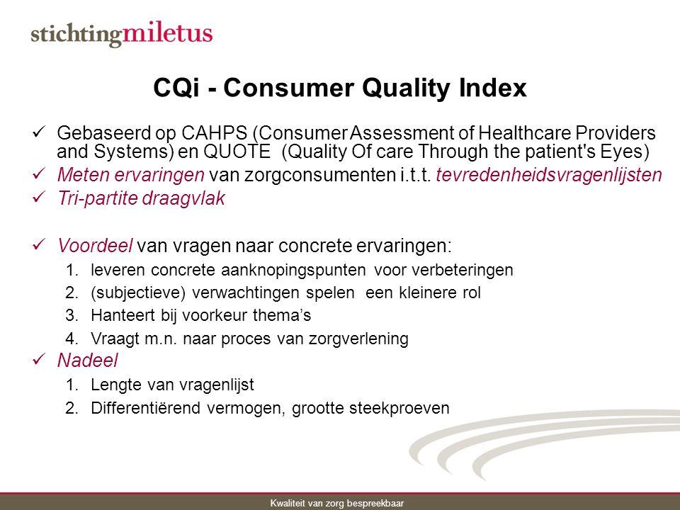 CQi - Consumer Quality Index