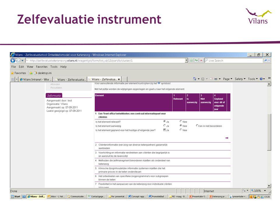 Zelfevaluatie instrument