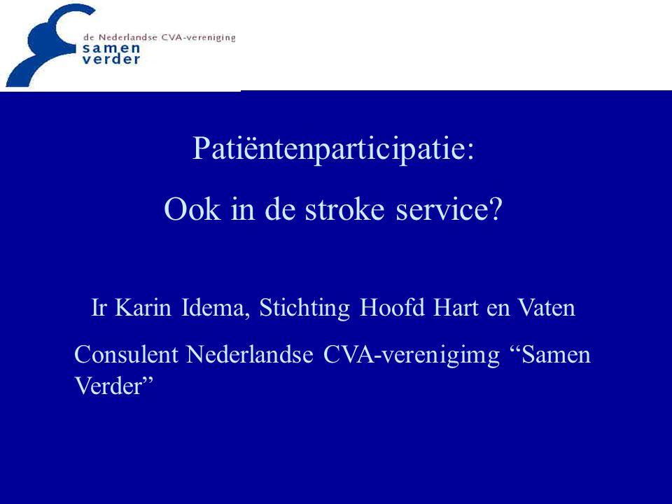 Patiëntenparticipatie: Ook in de stroke service