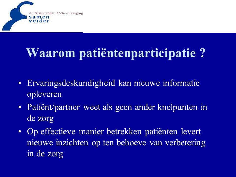 Waarom patiëntenparticipatie